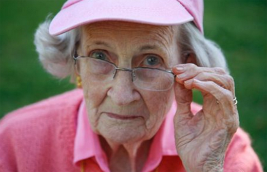 Бабушка в очках